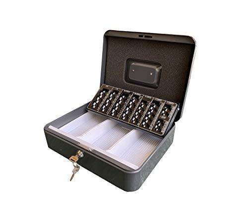 kippen 10003E2 Cassetta Portavalori con Portamonete, antracite, Dimensioni: 300x240x90 mm.