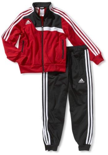 adidas Kinder Bekleidung Präsentationsanzug Tiro 13, Rot/Schwarz, 152