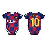 LCHENX-Chico Chica Body Onesies Camiseta de Fútbol para Barcelona Lionel Messi # 10 de Body de Bebé Fanáticos,Azul,6~12 Months