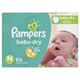 Pampers Cruisers Baby Dry Diapers, Size Newborn, 104 Count