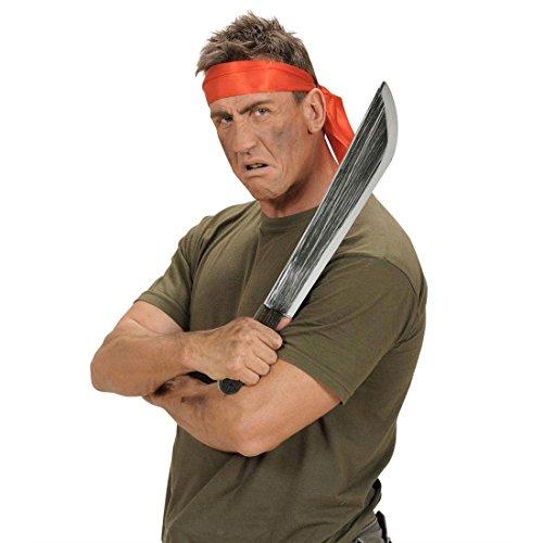 NET TOYS Machete Halloween Messer 54 cm Schwertmesser Piraten Waffe Buschmesser Faschings Schwert Haumesser