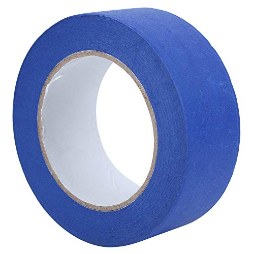 1.8in*164ft Blue Masking Tape for 3D Printers Writable Decorating Adhesive Paper Tape Automotive Paint High Temperature Resistance