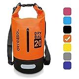 BKSTONE Bolsa Impermeable, Dry Bag/Mochila acuática/Bolsa de Supervivencia/Mochila Seca/Ideal para Kayak, Canoa, Pesca (Naranja, 30L)