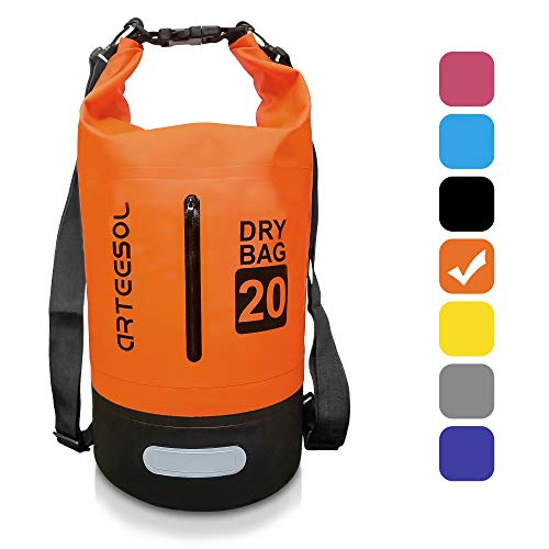 arteesol Waterproof Dry Bag, 5L/10L/20L/30L Waterproof Backpack Dry Sack Rucksack, Swim Bag with Adjustable Shoulder Straps, for Beach Swimming Kayaking Hiking Boating Canoeing Surfing Fishing