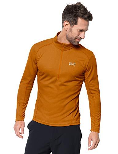 Jack Wolfskin Herren Sky Range Halfzip Langarmshirt, Rusty orange, 2