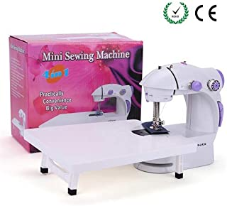 BAITENG Sewing Machine with Extension Table + Light + 4 Bobbins Needle & Threader + Foot Pedal