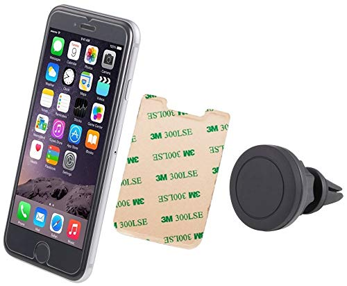 #1 UbiGear 2 in 1 Universal Car Cell Smartphone Magnetic Fast Swift-Snap Lycra Credit Card Case Wallet Vent-Clip 360