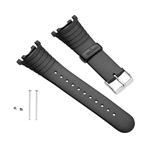SUUNTO Wrist-Top Computer Watch Replacement Strap Kit (Vector, Altimax, Mariner, Regatta, D3; Black Elastomer)