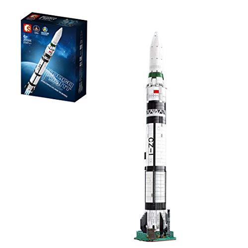 SESAY Modelo de cohete, 2147 piezas, tecnología de tractores de aviación, compatible con la técnica Lego.
