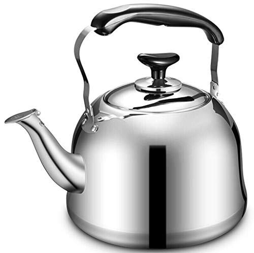 4L Bouilloire 304 En Acier Inoxydable De Grande Capacité Ménage Sifflet Théière Gaz Gaz Cuisinière À Cuire Général Santé Pot