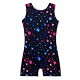 Gymnastics Leotards Tight Dancers Bodysuit Dancewear with Shorts for Juniors Teenager Girls 4t 5t 4-5 Years Old