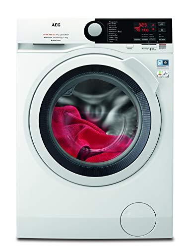 AEG L7FB78490 Waschmaschine / 9 kg / Waschvollautomat mit AutoDose - automatische Waschmitteldosierung / Mit Mengenautomatik, Nachlegefunktion, Schontrommel, Wifi Vernetzung / 1400 U/min