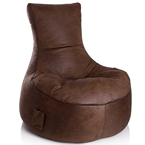 Sitzsessel Sitzsack braun Vilo 1 Pharao24