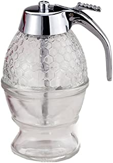Mrs. Anderson's Baking Syrup Honey Dispenser, Glass with Storage Stand, 8-Ounce Capacity