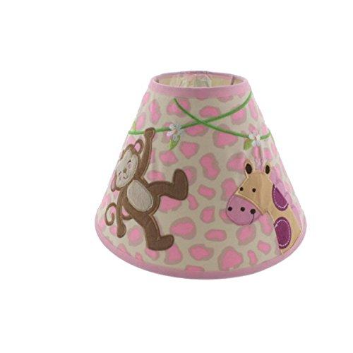 Koala Baby Applique Monkey/Giraffe Nursery Lamp Shade Pink