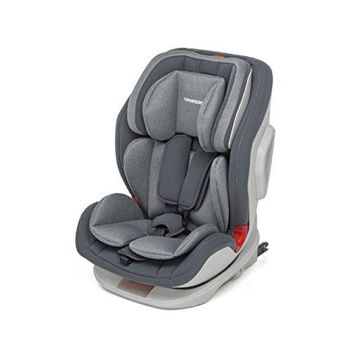 Foppapedretti Seggiolino Auto Tourist Gruppo 1,2,3 (9-36 Kg) per bambini da 9 Mesi a 12 Anni circa, Grey, Collezione 2021