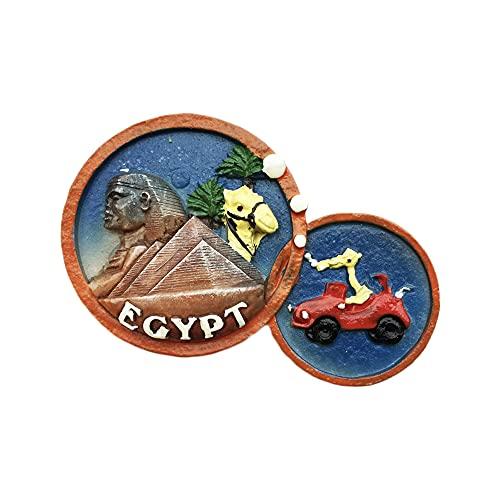 Imán para nevera en 3D, diseño de pirámide de Egipto, hecho a mano para decoración del hogar y la cocina, colección de imanes de nevera