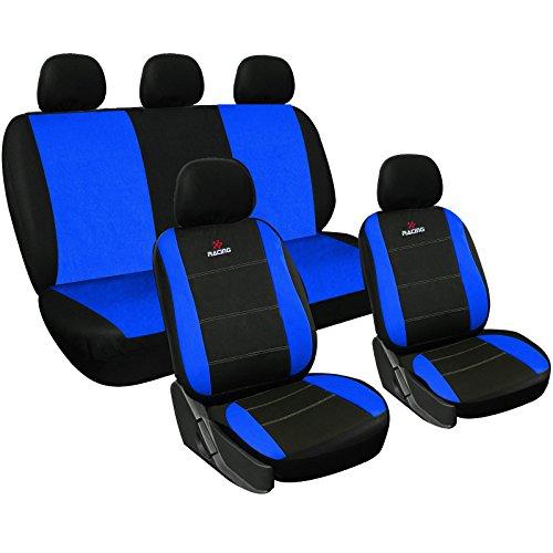 WOLTU AS7315 Set Completo di Coprisedili Auto Seat Cover Macchina Universali Protezione per Sedile di Poliestere Classici Blu
