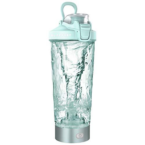 Blackube Proteína eléctrica shaker,100% libre de BPA,Tritan,600ml,Mezclador Vortex Eléctrico,Recargable,Electric Blender,Adecuado para personas...
