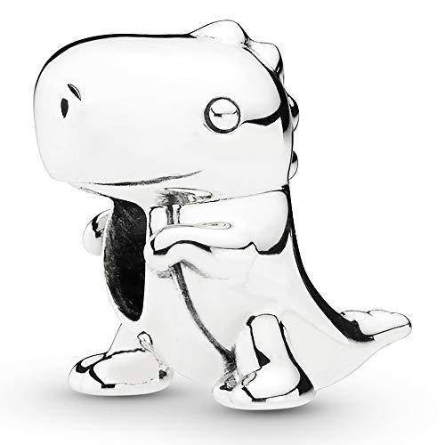 Dinosaur silver charm