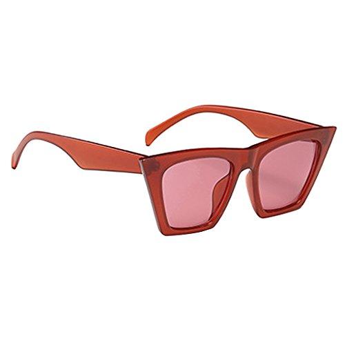 Bonarty Gafas de Sol Retro para Mujer - Rojo