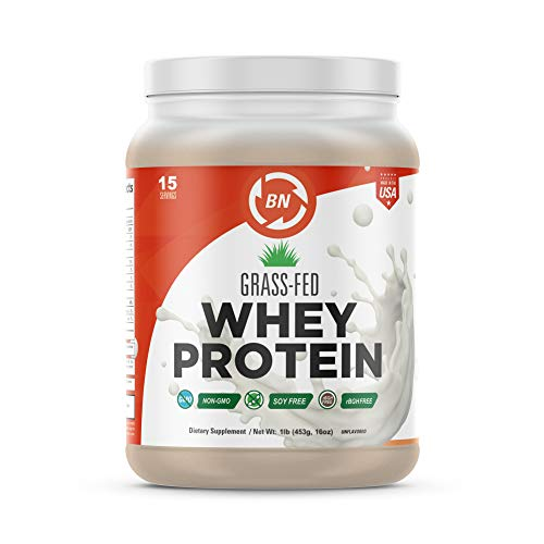 Grass Fed Whey Protein - 100% Pure, Natural & Raw – 24g High Protein - 1lb/15 Servings - Cold Processed Undenatured - Non-GMO - rBGH - High Quality Wisconsin USA