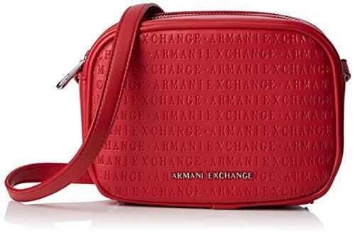 ARMANI EXCHANGE Small Crossbody Bag - Borse a tracolla Donna, Rosso (Red), 13x7x18.5 cm (B x H T)