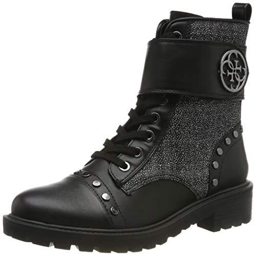 Guess Damen Heathire/Stivaletto (Bootie)/l Biker Boots, Schwarz (Black Blk Br), 40 EU