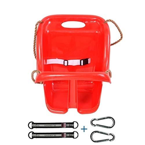 Balancelle de Jardin Retour Haut Siège de Swing enfants Chaise d'intérieur de l'extérieur Enfants de 6 à 36 mois Enfant (rouge) Balançoire (Color : Red, Size : C)