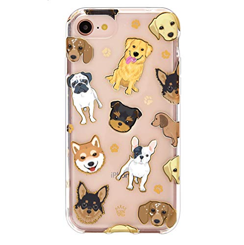 Velvet Caviar Compatible with iPhone 8 Case & iPhone 7 Case Dog for Women & Girls - Cute Clear Protective Phone Cases (Pug, French Bulldog, Golden, Yorkie)
