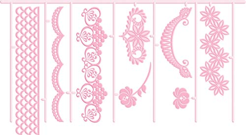 KitchenCraft Sweetly Does It Garland 3D Embossing Cutters, Pink, 8 cm