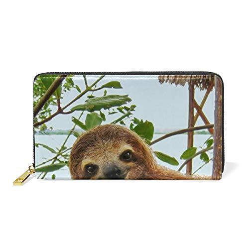 XiangHeFu portefeuille vrouwen portemonnee luier op boom clutch tas rits leder