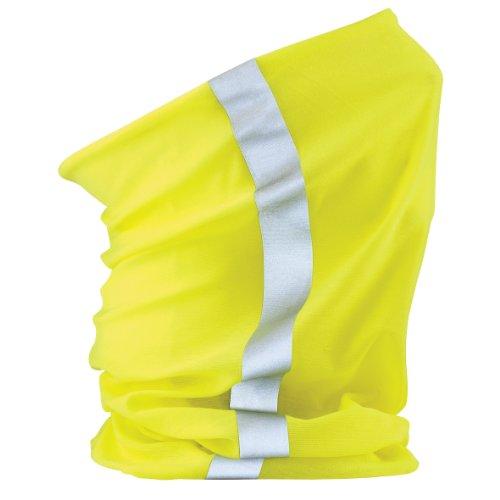 Beechfield - Tour de cou multi-usage à visibilité améliorée - Adulte unisexe (Taille unique) (Jaune fluo)