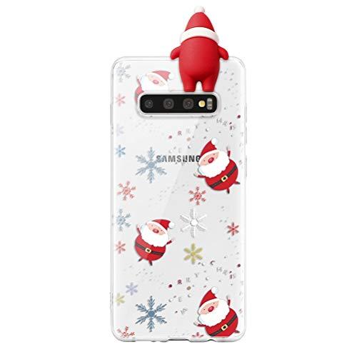 ZhuoFan Funda para iPhone 6 Plus/6S Plus 5.5,3D Silicona Carcasa de telefono Suave TPU Dibujos animados estatuilla de Navidad protectora Case Cover Cárcasa Movil Fundas iPhone 6Plus 6SPlus,Papá Noel