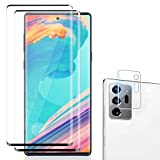 [2 +1] Galaxy Note 20 Ultra Screen Protector Tempered Glass Film [Camera Lens Protector][ [Ultrasonic Fingerprint Compatible][HD Clear][Case Friendly ][No bubbles][9H hardness]For Samsung Galaxy Note 20 Ultra (6.9Inch)