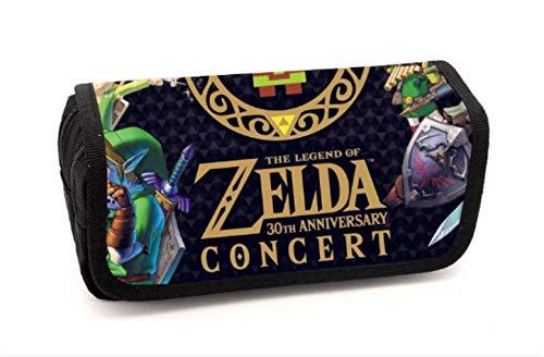 YUNMEI Zelda Bleistiftetui Die Legende Von Zelda Pencil Case Großformatiger Kindergarten Elementary Und High School Pencil Stationery Bag