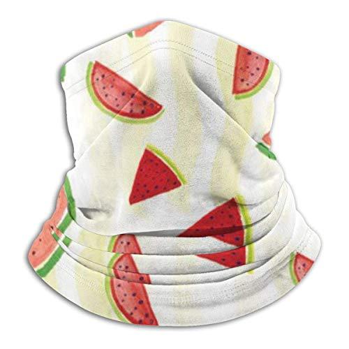Ewtretr Wassermelone Winter Fleece Hals Gamasche Halswärmer Gesichtsmaske im Freien