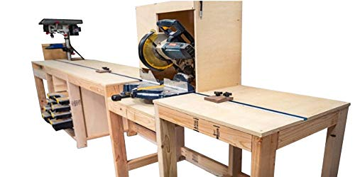 Miter Saw Station with Storage Plans DIY Woodworking Bench Stand Build Your Own