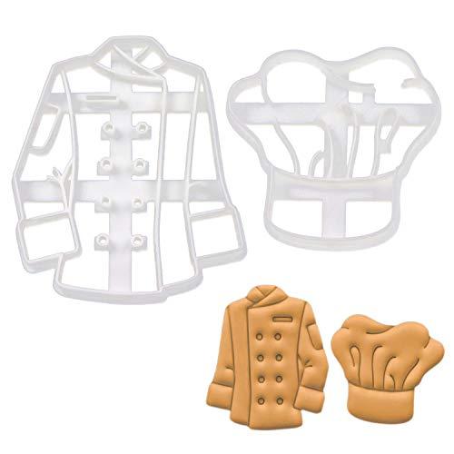 Bakerlogy 2er Set Kochkleidung Ausstechformen (Formen: Kochmütze und Kochjacke), 2 Teile