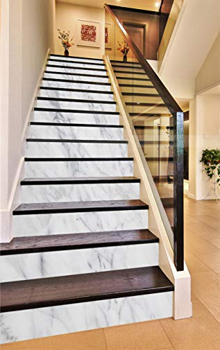 3D Elegant White 937 Pattern Tile Marble Stair Risers Decoration Photo Mural Vinyl Decal Wallpaper Murals Wallpaper Mural AJ WALLPAPER US Maze (13x H:18cm x W:94cm (7