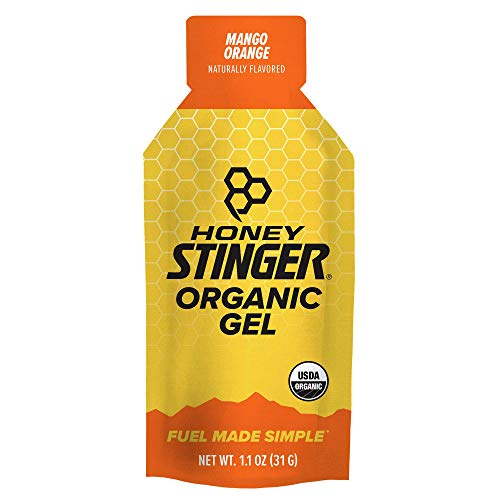 Honey Stinger Organic Energy Gel, Mango Orange, Sports Nutrition, 1.1 Ounce (Pack of 24)
