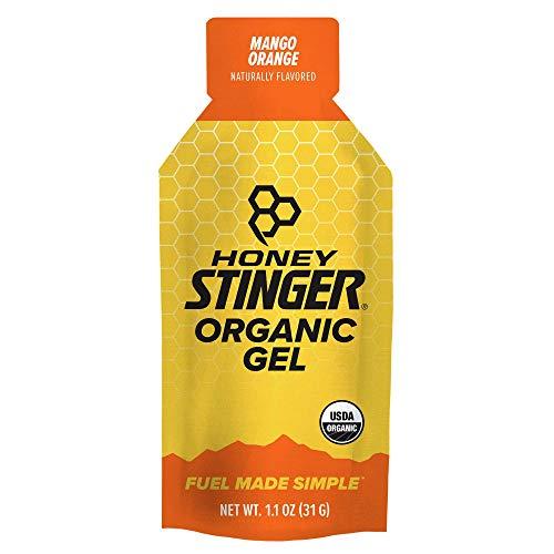 Honey Stinger Organic Energy Gel, Mango Orange, Sports Nutrition, 1.1 Ounce, (Pack of 24)
