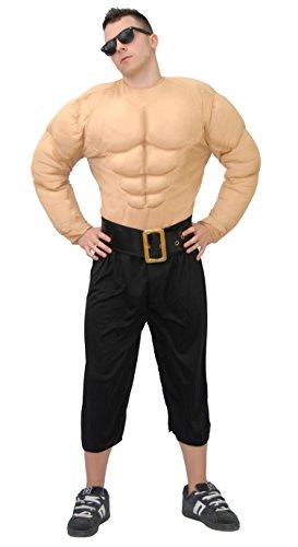Muskelmann - Kostüm für Männer Gr. M/L, Größe:L