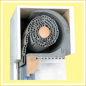 DiHa Rollladenkasten-Isolierung, Rollladenkasten Dämmung ROKA-ASS® 2-tlg. rund, Stärke 15 mm (Verschlußdeckel 240 mm)
