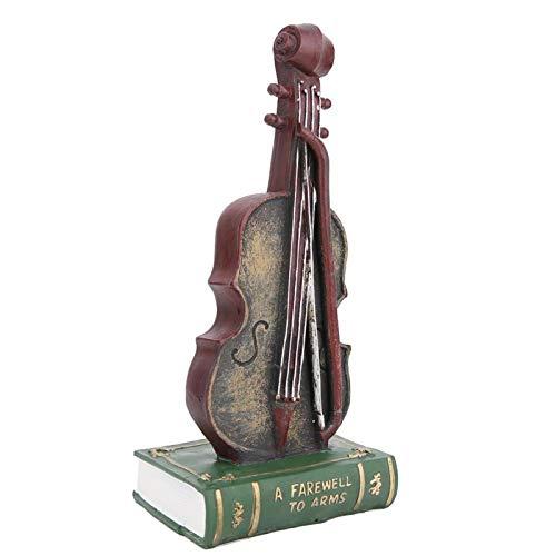 Labuduo Decoración de Escritorio, Adorno de Oficina Adorno de Resina, Adorno de saxofón, Escultura de Resina(Violin Original, 29 * 13 * 10)
