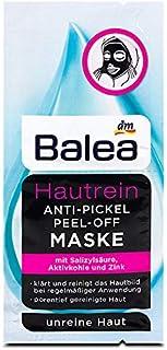 Balea 3 x Peel-off mask, kin-clean, anti-pimple & peel-off mask, 3 x 16 ml (6 Applications), Vegan - German Product