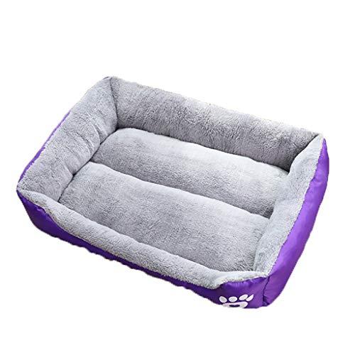 A.1.Coo Medium size eco-friendly pet bed, sustainable living pet mat, plush dog bed medium size-Machine washable pet pillow bed, suitable for large dogs under 25KG,Purple,M:70 * 55 * 16