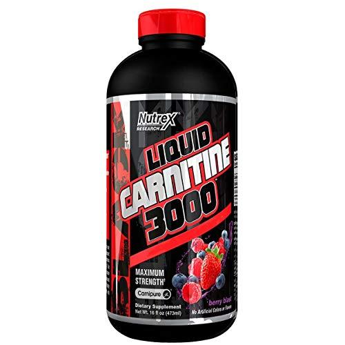 Nutrex Research líquido 3.000 Carnitina Suplemento Berry Blast