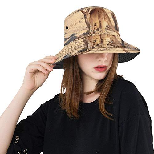 Lindo Sombrero de Cubo Muchos Canguro Closeup con colinas Verano Unisex Pesca...