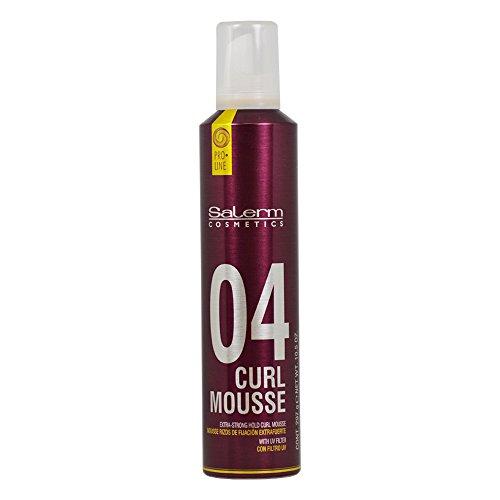 Salerm Cosmetics Curl Mousse 04 Espuma de Modelaje, 300 ml